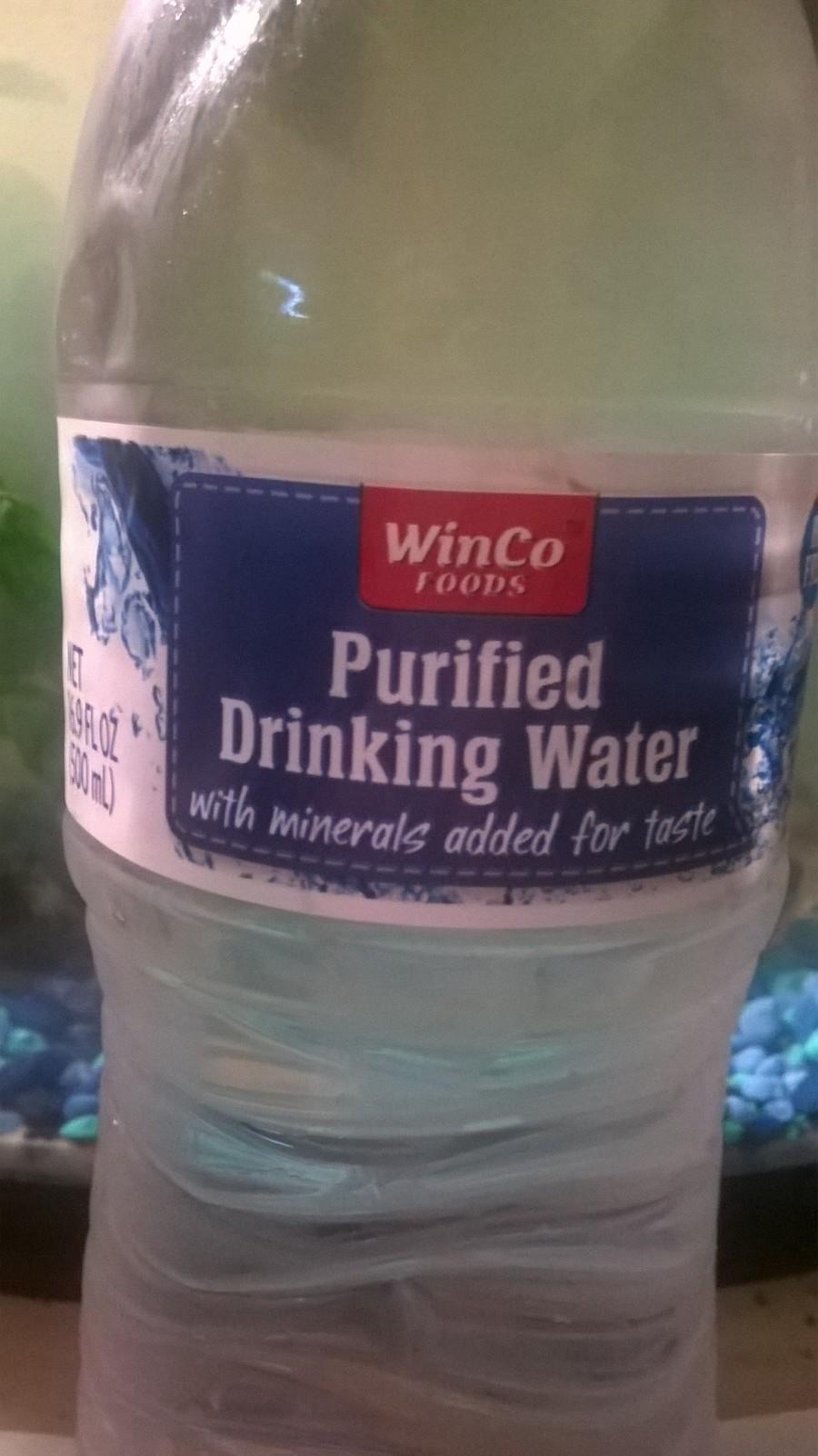 distilled water for betta fish